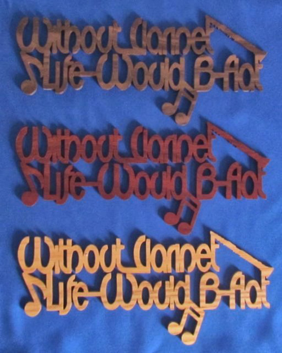 Without Clarinet Life Would Be Flat - Large