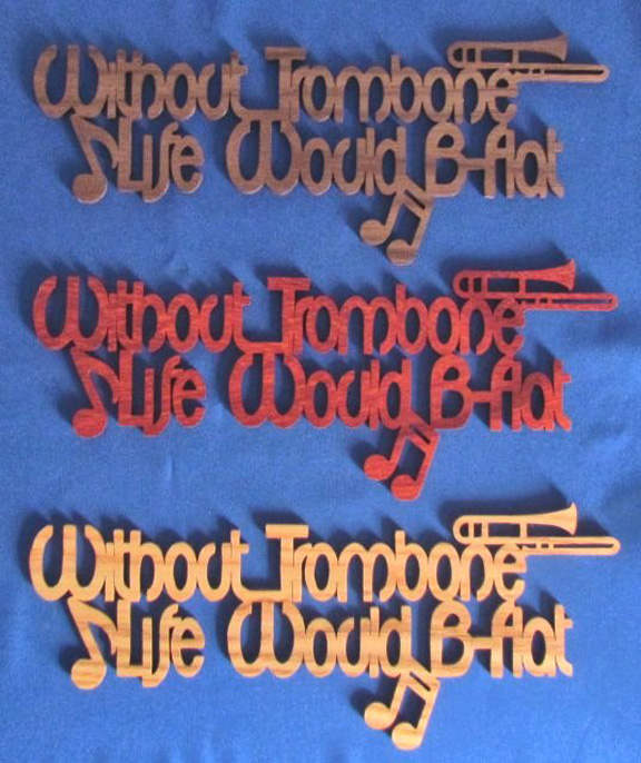 Without Trombone Life Would Be Flat - Large