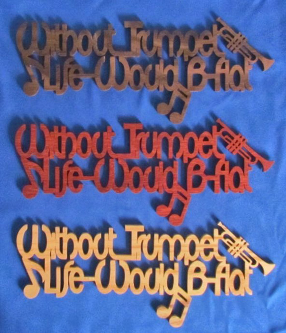 Without Trumpet Life Would B Flat - Large
